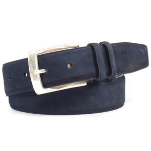 Mezlan Blue Vintage Fuji Suede Men's Belt