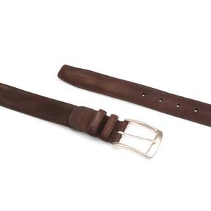 Mezlan Brown Vintage Fuji Suede Men's Belt