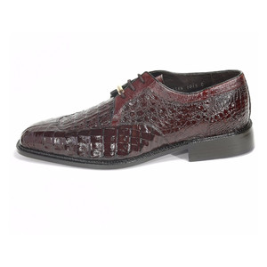 Belvedere Susa Brown Genuine Crocodile Derby Lace-Up