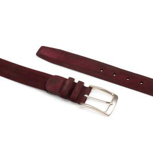 Mezlan Burgundy Vintage Fuji Suede Men's Belt