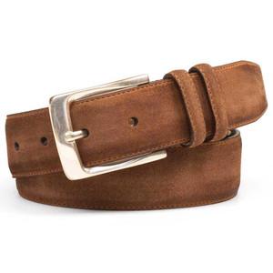 Mezlan Cognac Vintage Fuji Suede Men's Belt