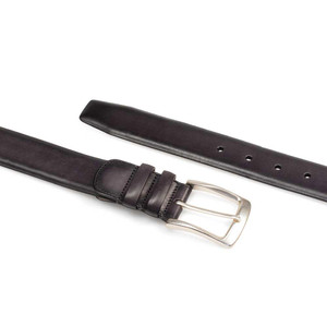 Mezlan Grey Hand Burnished European Calfskin Leather Men's Belt