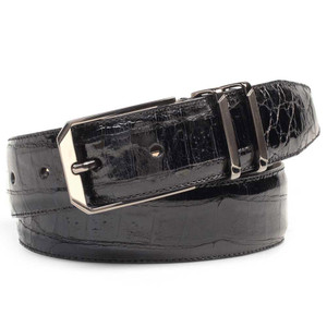 Mezlan Black Genuine Corocodile Men's Belt
