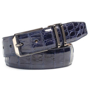 Mezlan Blue Genuine Corocodile Men's Belt