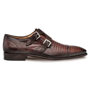 Mezlan Argentum in Cognac Cap Toe Dress Double Monk Men's Shoes