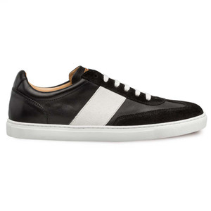 Mezlan Wyatt Black Suede, Fabric & Calfskin Leather Men's Sneaker