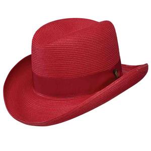 Dobbs El Dorado Straw Red Firm Finish Men's Hat