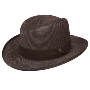 Dobbs El Dorado Straw Brown Firm Finish Men's Hat