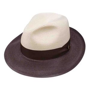 Dobbs Toledo Ivory & Brown Firm Finish Men's Hat