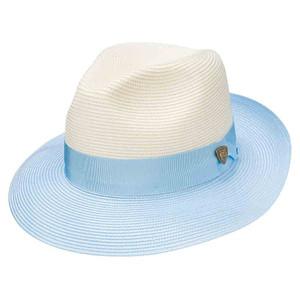 Dobbs Toledo Ivory & Baby Blue Firm Finish Men's Hat