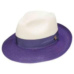 Dobbs Toledo Ivory & Purple Firm Finish Men's Hat