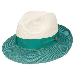 Dobbs Toledo Ivory & Turquoise Firm Finish Men's Hat
