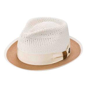 Dobbs Torero Beige & Cognac Firm Finish Men's Hat