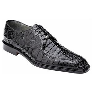 Belvedere Chapo Black Genuine Crocodile Oxfords