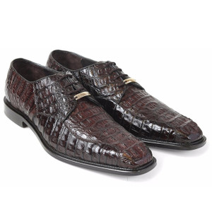 Belvedere Chapo Brown Genuine Crocodile Men's Oxfords