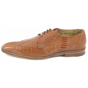 Belvedere Siena Amber Genuine Ostrich Lace-Up