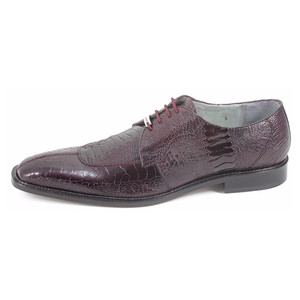 Belvedere Siena Burgundy Genuine Ostrich Lace-Up