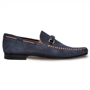 Mezlan Marcello Blue English Suede Men's Moccasin