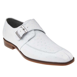 Belvedere Josh White Genuine Ostrich Monk Strap Men's Shoes
