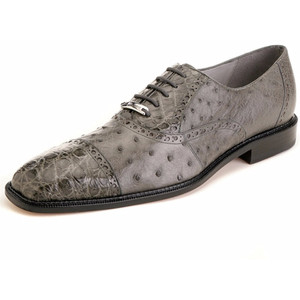 Belvedere Onesto Grey Ostrich & Crocodile Oxford