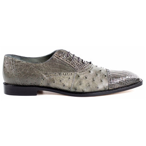 Belvedere Onesto Grey Ostrich & Crocodile Oxford