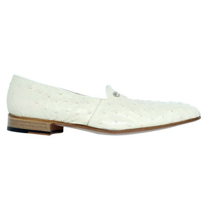 Mauri Sandstone Winter White Ostrich Men's Slip On Loafer
