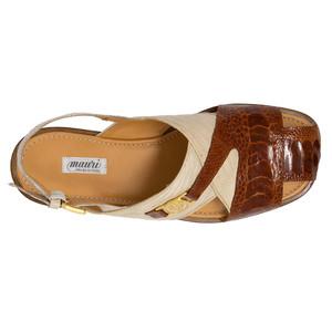 Mauri Romano Gold Exotic Ostrich & Teju Lizard Men's Sandals
