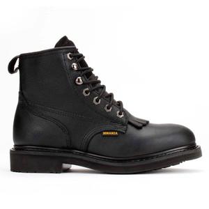 Bonanza Boondocks Black Round Toe Nubuck Leather Men's Boot