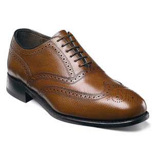 Florsheim Lexington Cognac Leather Wing-Tip