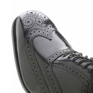Florsheim Lexington Black Leather Wing-Tip