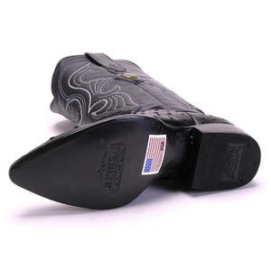 Los Altos Black Ostrich J-Toe Boot