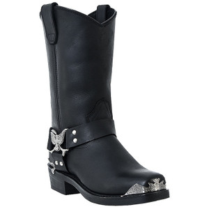 Dingo Chopper Black Leather Boot