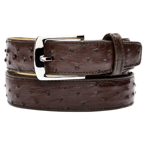Belvedere Brown Genuine Full Quill Ostrich Dress Belt