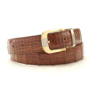 Safari Cognac Croc Dress Belt