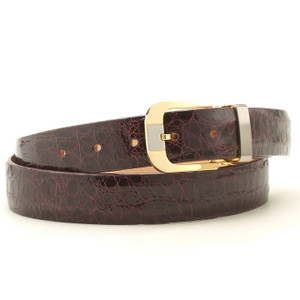 Safari Burgundy Croc Dress Belt