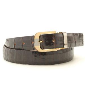 Safari Brown Croc Dress Belt