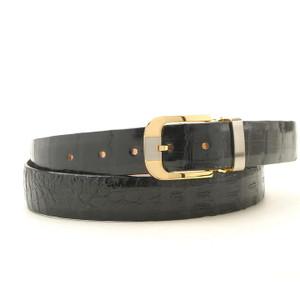Safari Black Crocodile Dress Belt
