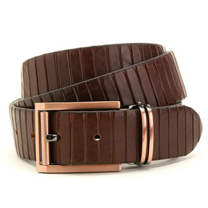 Avanti Brown Italian Leather Dress Belt