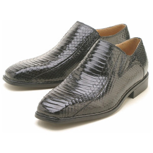 Giorgio Brutini Felix Black Genuine Snakeskin Slip On