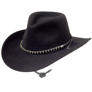 Stetson Black Foot Black Wool Western Hat