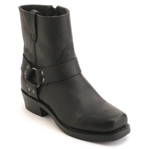 Dingo Dean Black Harness Leather Boots