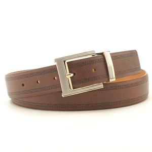 Marco Valentino Greeky Cognac Leather Dress Belt