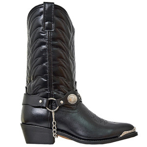 Laredo Black Leather Footed Boot