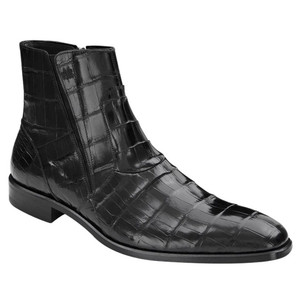 Belucci By Mezlan In Black Genuine Alligator Skin Boots