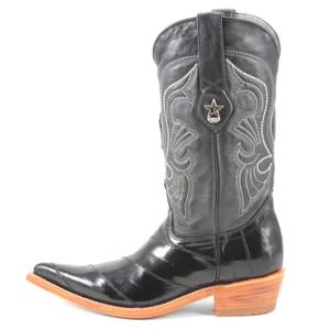 Los Altos Women's Black Eelskin Boots
