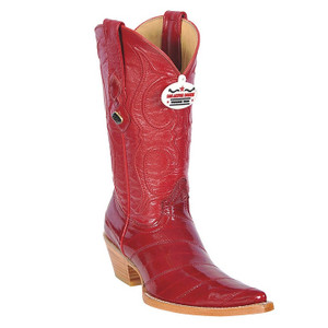 Los Altos Women's Red Genuine Eelskin Boots