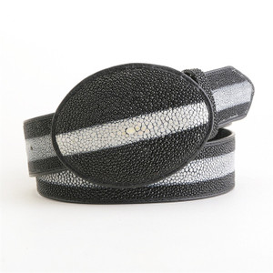 Los Altos Black Stingray Rowstone Belt