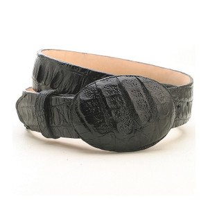Los Altos Black Genuine Caiman Hornback