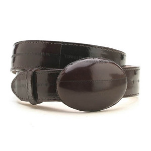 Los Altos Cafe Genuine Eelskin Belt