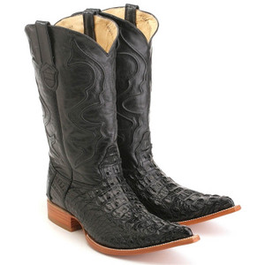 Los Altos Black Crocodile Boot